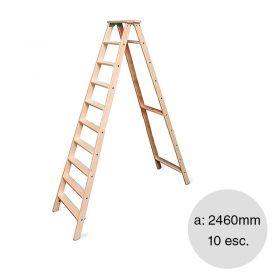Escalera familiar madera 10 escalones altura 2460mm