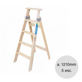 Escalera familiar madera 5 escalones altura 1210mm