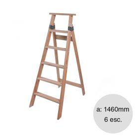 Escalera familiar madera 6 escalones altura 1460mm