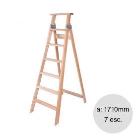 Escalera familiar madera 7 escalones altura  1710mm