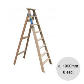 Escalera familiar madera 8 escalones altura 1960mm