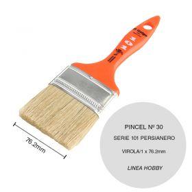 Pincel persianero nº30 serie 101 cerda china negra linea Hobby virola/1 x 76.2mm
