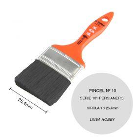 Pincel persianero nº10 serie 101 cerda china blanca linea Hobby virola/1 x 25.4mm