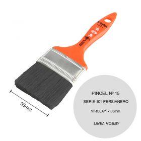 Pincel persianero nº15 serie 101 cerda china blanca linea Hobby virola/1 x 38mm