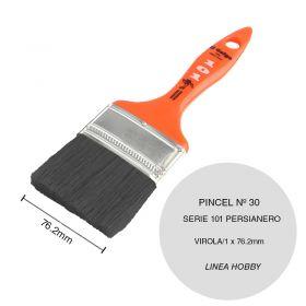 Pincel persianero nº30 serie 101 cerda china blanca linea Hobby virola/1 x 76.2mm