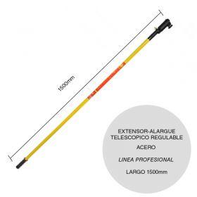 Extensor-alargue acero para rodillo telescopico regulable linea Profesional x 1500m