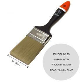 Pincel latex y base agua nº 25 plastico linea Premium Neon virola/2 x 63.5mm
