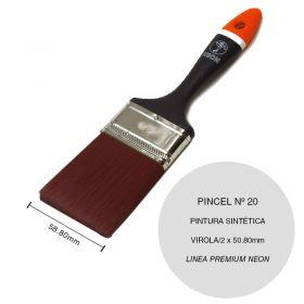 Pincel esmalte sintetico nº 20 plastico linea Premium Neon virola/2 x 50.8mm