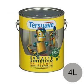 Esmalte sintetico multiproposito convertidor/antioxido aluminio brillante lata x 4l