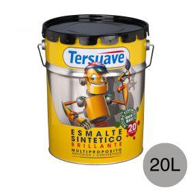 Esmalte sintetico multiproposito convertidor/antioxido aluminio brillante balde x 20l