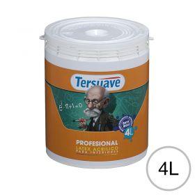 Pintura latex acrilico profesional interior blanco mate balde x 4l