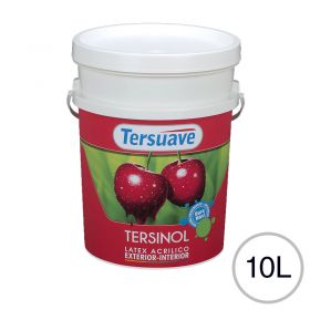 Pintura latex acrilico Tersinol exterior interior antihongo blanco mate balde x 10l