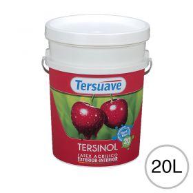 Pintura latex acrilico Tersinol exterior interior antihongo blanco mate balde x 20l