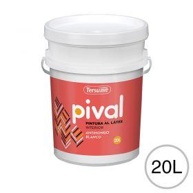 Pintura latex acrilico Pival interior blanco mate balde x 20l