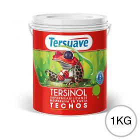 Membrana en pasta impermeabilizante Tersinol techos con poliuretano proteccion UV blanco semi mate balde x 1kg