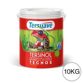 Membrana en pasta impermeabilizante Tersinol techos con poliuretano proteccion UV blanco semi mate balde x 10kg
