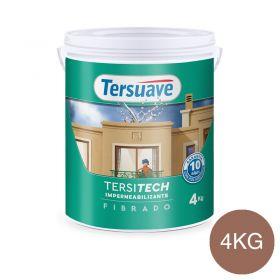 Membrana liquida impermeabilizante acrilica Tersitech techos y muros fibrado con poliuretano rojo teja semi mate balde x 4kg.