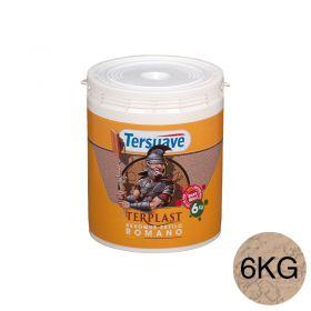 Revestimiento plastico texturable Terplast Romano textura mediano marfileño balde x 6kg