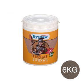Revestimiento plastico texturable Terplast Romano textura mediano marron serrano balde x 6kg