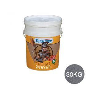Revestimiento plastico texturable Terplast Romano textura mediano gris bruma balde x 30kg