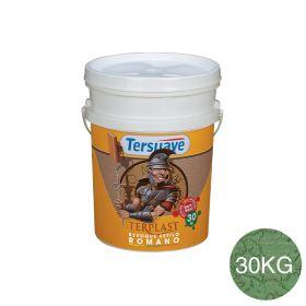 Revestimiento plastico texturable Terplast Romano textura mediano verde liquen balde x 30kg