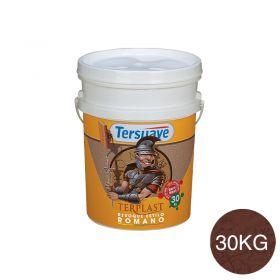 Revestimiento plastico texturable Terplast Romano textura mediano rojo criollo balde x 30kg