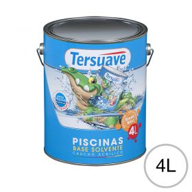 Pintura acrilica piletas base solvente blanco semi mate lata x 4l