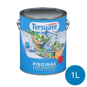 Pintura acrilica piletas base solvente azul semi mate lata x 1l