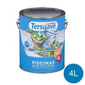 Pintura acrilica piletas base solvente azul semi mate lata x 4l