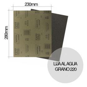 Lija al agua NorClass T277 grano 220 hoja 230mm x 280mm x u