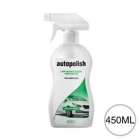 Limpiador en seco autos sin usar agua gatillo botella x 450ml