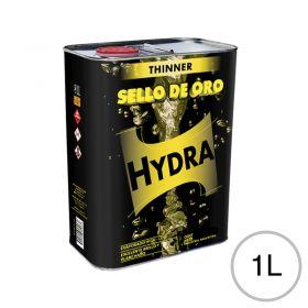 Diluyente lacas acrílicas Thinner Hydra Sello de Oro uso automotor/Industrial/general lata x 1l
