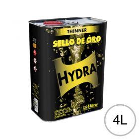 Diluyente lacas acrílicas Thinner Hydra Sello de Oro uso automotor/Industrial/general lata x 4l