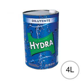 Diluyente esmaltes lacas fondos acabados poliuretanicos Hydra lata x 4l